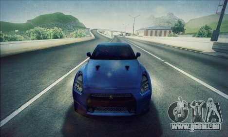 Nissan GT-R R35 Premium pour GTA San Andreas sur la vue arrière gauche