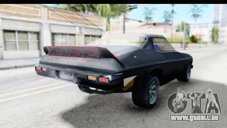 Holden Monaro 1972 Nightrider für GTA San Andreas zurück linke Ansicht