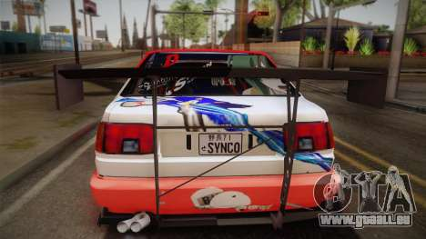 Toyota AE86 2 Door Levin pour GTA San Andreas vue de droite