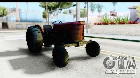 Fireflys Tractor pour GTA San Andreas vue de droite