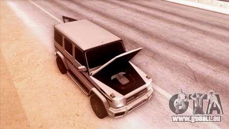 Mercedes-Benz G65 pour GTA San Andreas vue arrière