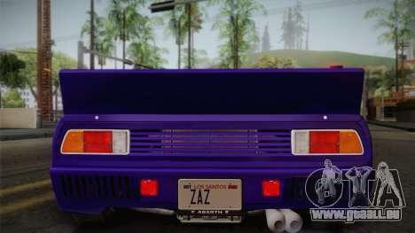 Lancia Rally 037 Stradale (SE037) 1982 IVF Dirt1 für GTA San Andreas obere Ansicht
