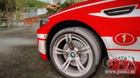 BMW M5 Touring NEF pour GTA San Andreas sur la vue arrière gauche