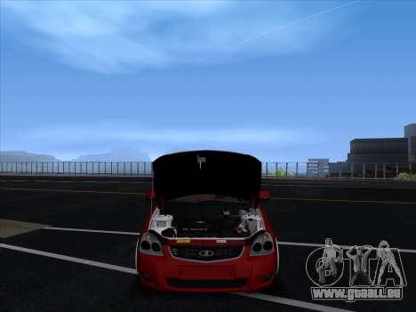 VAZ 2170 STANCE für GTA San Andreas Innenansicht