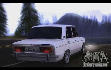 VAZ 2106 Steele pour GTA San Andreas sur la vue arrière gauche