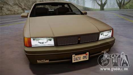 Declasse Premier 1992 SA Style für GTA San Andreas zurück linke Ansicht