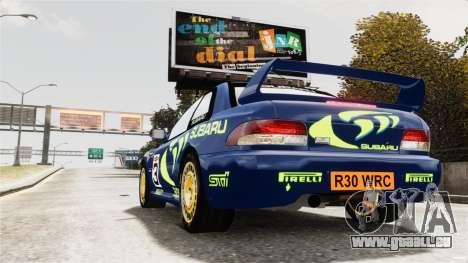 Subaru Rally WRC Impreza 98 v8 pour GTA 4 est une gauche