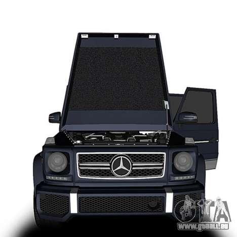 Mercedes-Benz G63 pour GTA San Andreas sur la vue arrière gauche