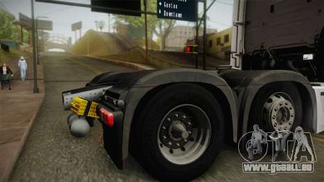 Mercedes-Benz Actros Mp4 6x2 v2.0 Bigspace v2 pour GTA San Andreas vue de droite