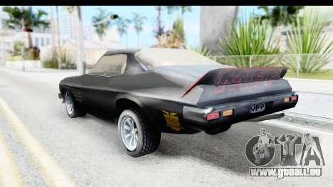 Holden Monaro 1972 Nightrider pour GTA San Andreas laissé vue