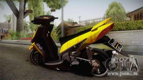 Honda Vario Yellow Shines pour GTA San Andreas laissé vue
