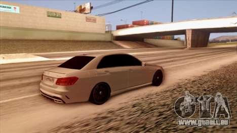 Mercedes-Benz Е63 für GTA San Andreas zurück linke Ansicht
