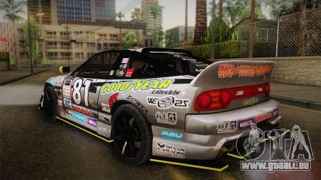 D1GP Nissan 180SX BWest Origin Labo pour GTA San Andreas laissé vue