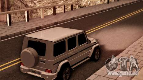 Mercedes-Benz G65 pour GTA San Andreas sur la vue arrière gauche