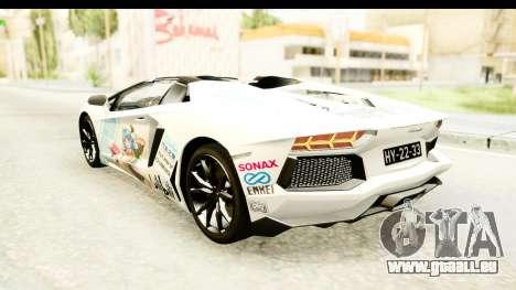 Lamborghini Aventador LP700-4 Roadster v2 für GTA San Andreas Räder