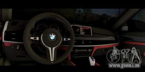 BMW X6M F86 M Performance pour GTA San Andreas vue de droite
