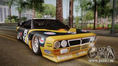 Lancia Rally 037 Stradale (SE037) 1982 IVF Dirt2 pour GTA San Andreas sur la vue arrière gauche