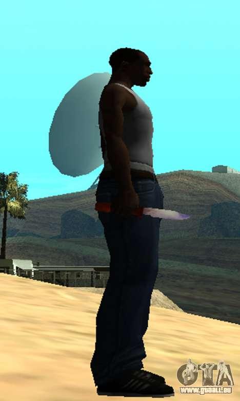 Common Knife pour GTA San Andreas troisième écran