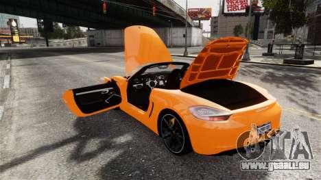 Porsche Boxster GTS 2014 für GTA 4 Seitenansicht