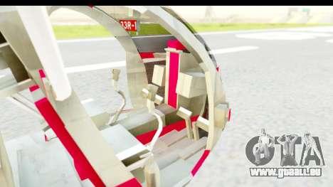 Smaga Sparrow Helis Military Version pour GTA San Andreas vue arrière