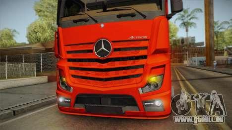 Mercedes-Benz Actros Mp4 6x2 v2.0 Steamspace v2 pour GTA San Andreas vue intérieure
