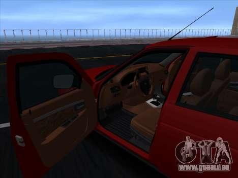 VAZ 2170 STANCE für GTA San Andreas obere Ansicht