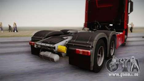 Mercedes-Benz Actros Mp4 6x4 v2.0 Bigspace v2 pour GTA San Andreas vue de droite