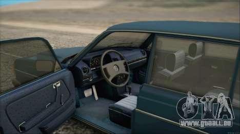 Mercedes-Benz 240D für GTA San Andreas zurück linke Ansicht