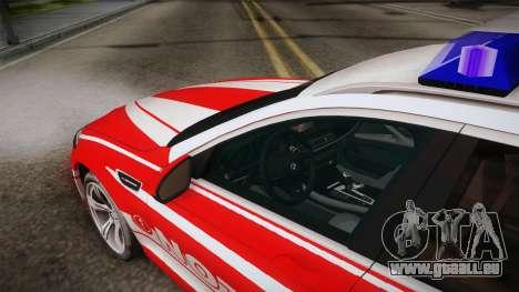 BMW M5 Touring NEF pour GTA San Andreas vue intérieure