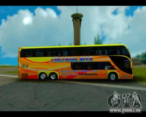 Metalsur Starbus II CRUCERO DEL NORTE pour GTA San Andreas sur la vue arrière gauche