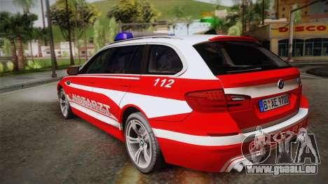 BMW M5 Touring NEF pour GTA San Andreas laissé vue