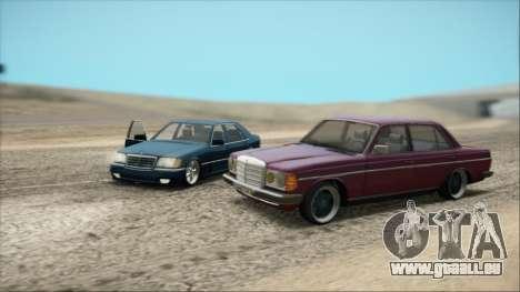 Mercedes-Benz 240D für GTA San Andreas Rückansicht