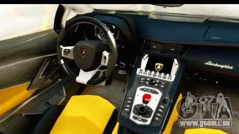 Lamborghini Aventador LP700-4 Roadster v2 für GTA San Andreas Innenansicht