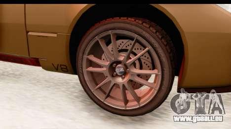 Spada Codatronca TS pour GTA San Andreas vue arrière