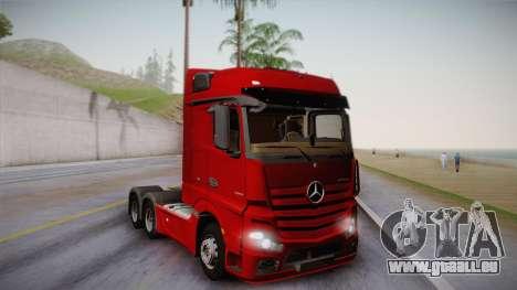 Mercedes-Benz Actros Mp4 6x4 v2.0 Bigspace v2 pour GTA San Andreas