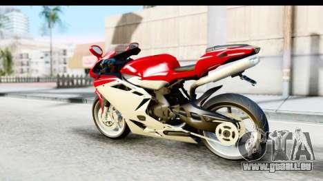MV Agusta F4 pour GTA San Andreas laissé vue