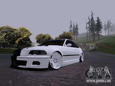 BMW E46 Good and Evil pour GTA San Andreas laissé vue