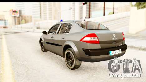 Renault Megane 2 Sedan Unmarked Police Car für GTA San Andreas linke Ansicht