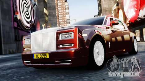 Rolls-Royce Phantom EWB 2013 pour GTA 4 Vue arrière de la gauche