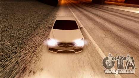 Mercedes-Benz Е63 für GTA San Andreas Innenansicht