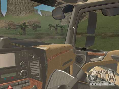 Mercedes-Benz Actros Mp4 4x2 v2.0 Bigspace v2 pour GTA San Andreas vue de côté