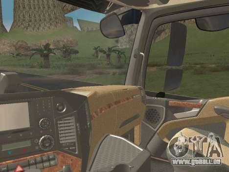 Mercedes-Benz Actros Mp4 6x2 v2.0 Steamspace v2 pour GTA San Andreas vue de dessous