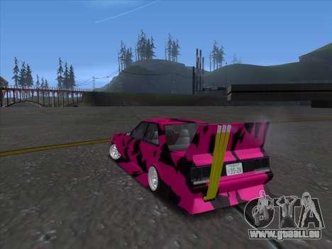 Toyota Supergt pour GTA San Andreas sur la vue arrière gauche