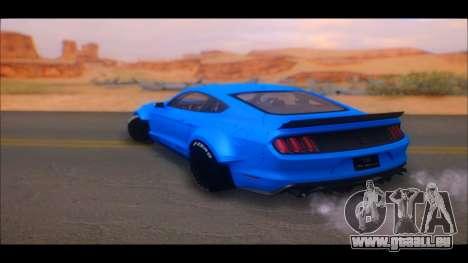 Ford Mustang 2015 Liberty Walk LP Performance pour GTA San Andreas sur la vue arrière gauche