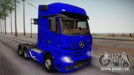 Mercedes-Benz Actros Mp4 6x4 v2.0 Gigaspace pour GTA San Andreas