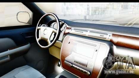 Chevrolet Silverado 2011 für GTA San Andreas Innenansicht