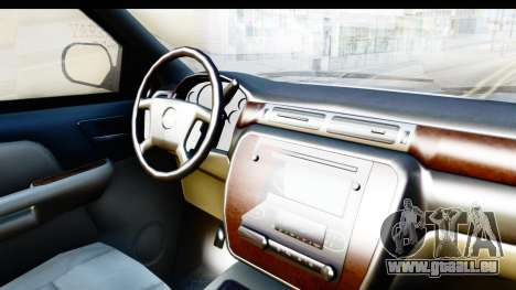 Chevrolet Silverado 2011 pour GTA San Andreas vue intérieure