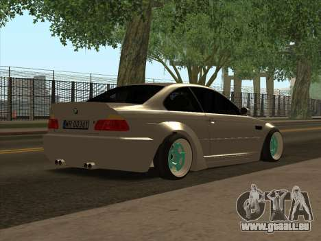 BMW E46 für GTA San Andreas zurück linke Ansicht
