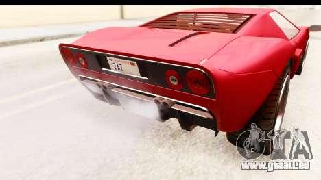 GTA 4 TboGT Bullet pour GTA San Andreas vue intérieure