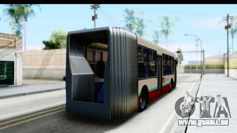Metrobus de la Ciudad de Mexico für GTA San Andreas linke Ansicht